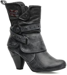 Mustang Boots Grey - ShopStyle UK