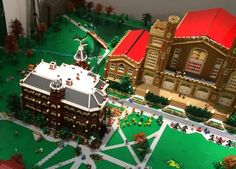 Now, at Old Main on the CU campus: This $45,000 twelve foot by seventeen foot Lego display is a whimsical look at iconic campus buildings including Old Main, Macky Auditorium, the Mary Rippon Theatre and Folsom Field. The football stadium alone has approximately a quarter million Lego bricks and weighs several hundred pounds.