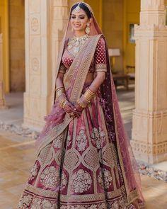 Pink Bridal Lehenga, Indian Bridal Lehenga, Designer Bridal Lehenga, Indian Bridal Outfits, Indian Bridal Fashion, Indian Fashion Dresses, Indian Bridal Wear, Dress Indian Style, Indian Bride Dresses