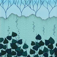 Elisa Viotto Arte . water flowers . 40 x 40 x 4 cm . oil on canavas. 2011