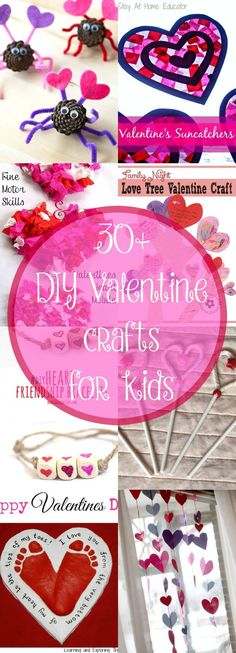 Let the kids have fun with these 30+ DIY Valentine crafts!