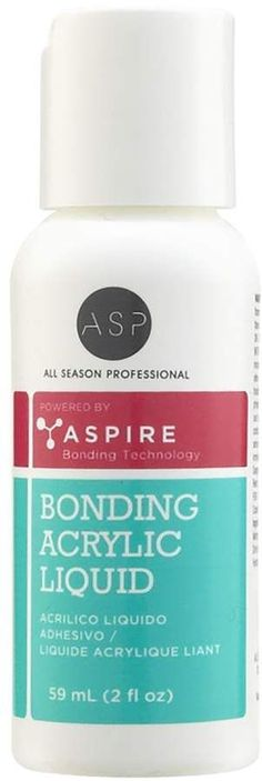 ASP Bonding Acrylic Nail Liquid is an adhesive acrylic liquid that does not require a primer. Acrylic Nail Liquid, Acrylic Nails Stiletto, Clear Acrylic Nails, Summer Acrylic Nails, Acrylic Nail Art, Nail Art Diy, Acrylic Nail Designs, Elegant Nail Designs, Flower Nail Designs