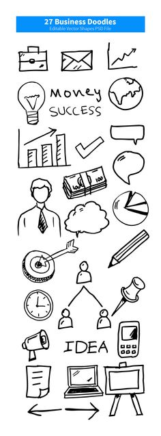 27 Business Doodles PSD