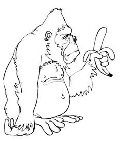 Big Monkey Coloring Pages