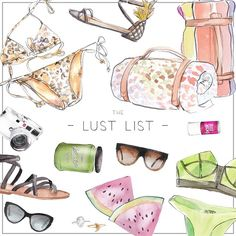The Perfect Summer LUST LIST Be sure to get up to date with all our Lust List's this summer on instagram @_thelustlist_