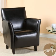 Francisco Black Bonded Leather Club Chair By Christopher Knight Home By Christopher  Knight Home