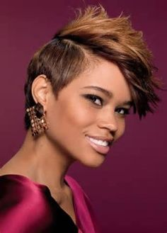 chic short hairstyle for black women