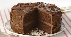 Ultimate Chocolate Cake: This special occasion cake is rich in chocolate flavor from the unsweetened cocoa powder and the semi-sweet chocolate. The Chocolate Fudge Frosting adds the decadent finish. Chocolate Fudge Frosting, Fudge Cake, Chocolate Flavors, Chocolate Cakes, Cinnamon Crumb Cake, Cocoa Cinnamon, Ultimate Chocolate Cake, Cake Recipes, Dessert Recipes