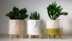 Tripod planters. made by Atelier Stella