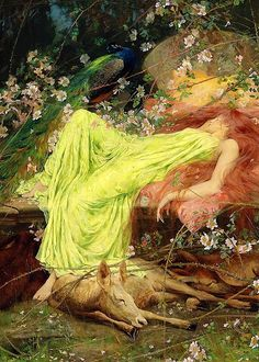 "ARTHUR WARDLE (1864-1949) A FAIRY TALE ""ALL SEEMED TO SLEEP, THE TIMID HARE ON FORM"""