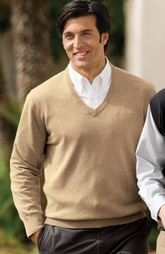 A refined favorite, this soft, breathable Port Authority Signature SW275 Fine-Gauge V-Neck Sweater can be dressed up or down for casual or sophisticated looks.