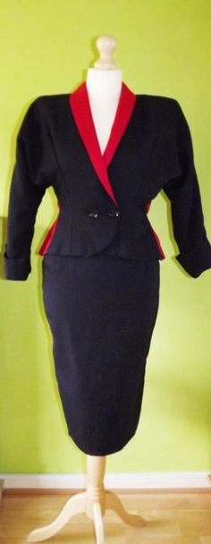 Original 1983 red and black suit from Angie's in Oasis Birmingham.