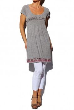 Odd Molly  Grey Melange Shortsleeve Dress  Front