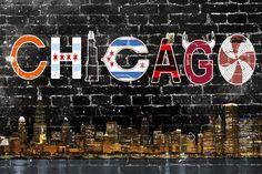Chicago Soutside Street Skyline