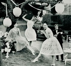 Paper lanterns vintage garden party.  Vogue, Summer Pleasures (June 1960).