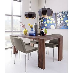 "CB2 - Modern Furniture, Home Accessories, and more at cb2.com. Blox Dining Table 35""x63"" $600.  Also avail 35""x91"""