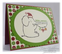 Christmas Card using Henry Says Stamps