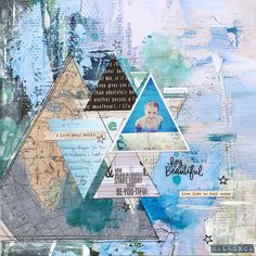 Layout for Kreativ Scrapping - triangles - KaiserCraft Love Your Smile, My Love, Scrapbooking Layouts, Triangles, Live Life, Vintage World Maps, Scrapbook Layouts, Quote Life, Scrapbook Page Layouts