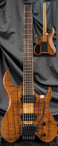 Kiesel Guitars V6X Vader 6-String Headless Guitar w/ Hipshot/Kiesel Tremolo System Serial Number 135298