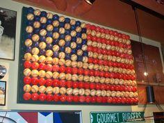 Baseball Flag Must make one for Jayden's Americana & Baseball themed roomMust make one for Jayden's Americana & Baseball themed room Baseball Flag, Baseball Crafts, Baseball Stuff, Baseball Table, Baseball Decorations, Baseball Anime, Baseball Tips, Patriotic Decorations, Baseball Jerseys