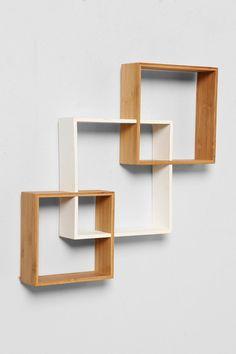 Diy Furniture Plans Woodworking - New ideas Wooden Shelf Design, Bookshelf Design, Wall Shelves Design, Wood Shelves, Diy Furniture Plans, Furniture Design, Diy Storage Shelves, Display Shelves, Geometric Shelves