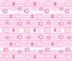 Kitten Ribbons: white fabric by dreamcircus on Spoonflower - custom fabric