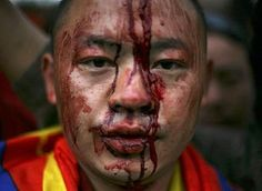 China's aggression of tibetan monks