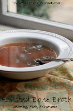How to make bone broth with roasted bones for an incredibly rich and delicious flavor