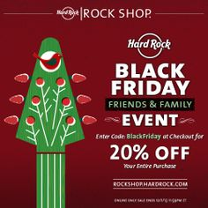 67c570a2f Rock your holiday shopping with 20% Off your online Rock Shop order through  Sunday 12