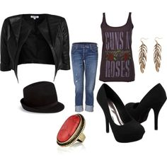 Rocker Chic style Designed by Alisha/Ryanne Russell -- love it! minus the heels