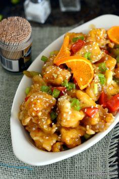 Vegan orange chicken (cauliflower)