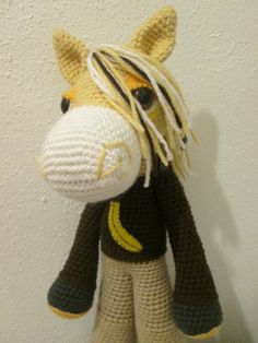 Yellow horse from Dreams in Amigurumi, great custom/1st birthday? gift idea