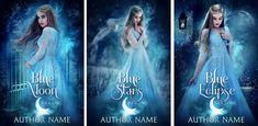 Instant Ebook Cover Art: Code PDC105 $300/trio #ya #romance #fairytale #bookcover #bookcoverart Book Cover Art, Book Cover Design, Book Design, Ebook Cover, Blue Moon, Fairytale, Romance, Author, Reading