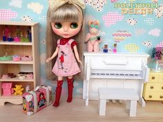 Piano for Blythe / furniture / made by wood / by DollyDollDecor, $59.99