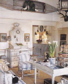 blue & white cottage style