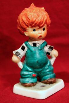 Vintage GOEBEL Charlot BYJ REDHEAD Figurine Plenty of Nothing #27  TMK-4