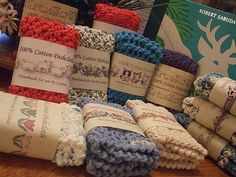 Ravelry: conicuts' My Dishcloth Wrapper Sets Yarn Projects, Knitting Projects, Crochet Projects, Loom Knitting, Knitting Patterns, Crochet Patterns, Crochet Dishcloths, Crochet Stitches, Crochet Home
