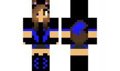 minecraft skin Blue-Wolf-Girl-XD