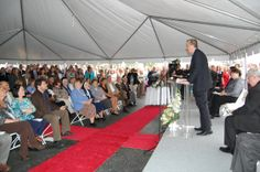 Peter D. Banko, President and CEO, St. Vincent, addressing the audience at the ceremony.