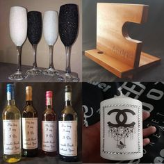 The Little Things That Count. We specialize in the little things that make your wedding or event stand out! Little Things, Wine Glass, Gift Ideas, Make It Yourself, Day, Tableware, Gifts, Dinnerware, Presents