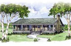 Country Style House Plans - 1365 Square Foot Home , 1 Story, 3 Bedroom and 2 Bath, 0 Garage Stalls by Monster House Plans - Plan 18-133