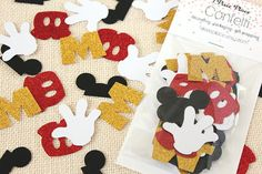 Mickey+Mouse+Glitter+Confetti++50+pieces++Disney+by+1PixiePlace