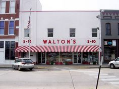 First Wal-Mart store opened by Sam Walton in 1962.