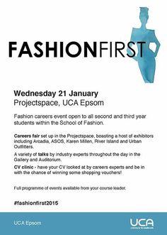 Fashion First 2015, Wednesday 21 January http://community.ucreative.ac.uk/index.cfm?articleid=44170