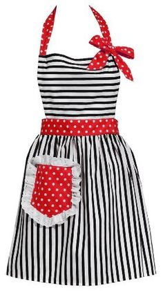 Carolyn's Kitchen - Dorothy Red Retro Apron by Carolyn's Kitchen, http://www.amazon.com/dp/B005OQVI3I/ref=cm_sw_r_pi_dp_Fzuisb1KPXGYC I would rock this like nobody's business!