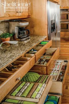 Need more storage? Transform your existing cabinets with pull out shelves!