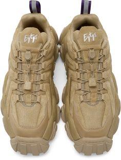 Eytys: Tan Suede Halo Sneakers | SSENSE in 2020 | Sneakers