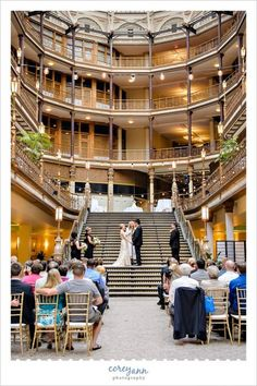 wedding ceremony at hyatt arcade in cleveland ohio