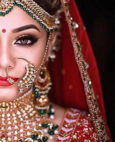Indian Wedding Makeup, Indian Wedding Bride, Best Bridal Makeup, Indian Bridal Outfits, Bridal Makeup Looks, Indian Bridal Photos, Wedding Blush, Indian Makeup, Asian Bridal