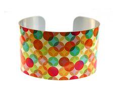 Cuff bracelet, geometric women's jewellery, bright colourful bangle - B149 £17.40